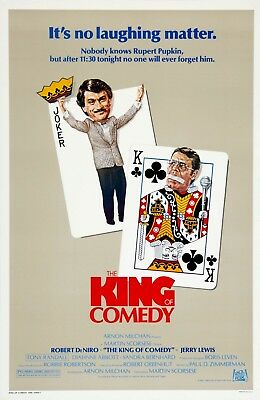 The King of Comedy 1982  Movie Poster Print A0-A1-A2-A3-A4-A5-A6-MAXI - CL81