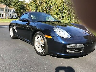 2005 Porsche Boxster  2005 Porsche Dark Blue Boxster with Saddle Leather Interior