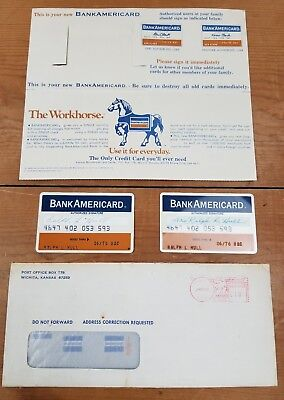 Vintage Bank Americard Complete Set With Paperwork 6/76. His And Hers