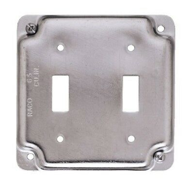 """Hubbell Electrical (803C) 4"""" Exposed Work Cover (For 2 Toggle Switches)-Lot of 5"""