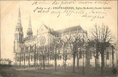 11842574 Chateauroux Indre Eglise St Andre facade laterale Chateauroux