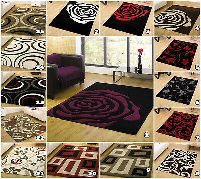 Small Large Modern Designer Floral Carved Thick Clearance Floor Monte Carlo Rugs
