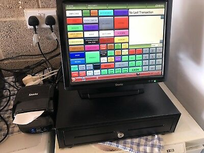 sam4s epos System With Samtouch Software complete With Printer And Cash Drawer