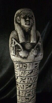 RARE ANCIENT EGYPTIAN PHARAOHS Antiquities USHABTI Shabti EGYPT Carved Stone BC