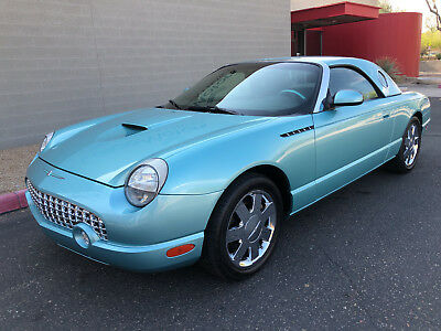 2002 Ford Thunderbird Premium w/Hardtop Chrome Wheels Hardtop & Soft Top Two Tone Leather Thunderbird Blue 2004 2003
