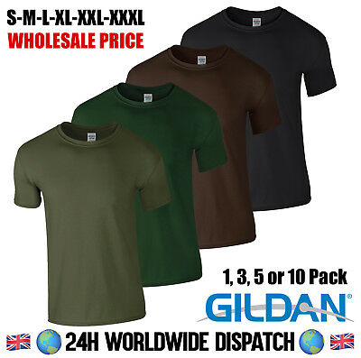 Wholesale Gildan T Shirt Army Green Military Fishing Brown Black Camp Summer Gym