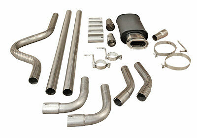 Full Cat Back Performance Exhaust System Upswet Letter Muffler Back Box Mc005Pp