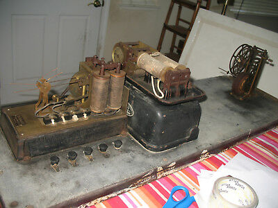 Antique Electric Telegraph Machine Police Fire Military Navy Hotel