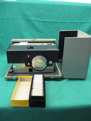 Vintage Kodak Cavalcade Projector + New Lamp 1 Tray of 1960's Vintage Slides