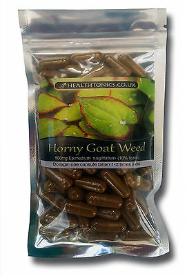Horny Goat Weed ( 80:1 equivalent to 40,000mg ), Vegetarian Capsules