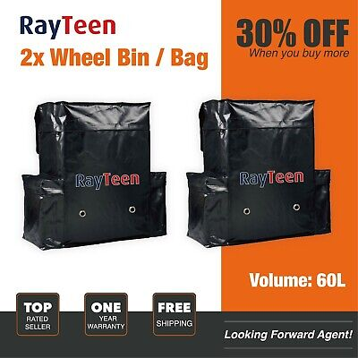 2PCS RayTeen 60L Spare Wheel Bin & Accessory Bag, 4WD, 4x4 Recovery Storage Bag