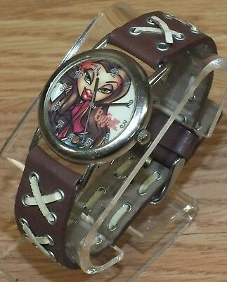 TM MGA 2004 Bratz Doll Women's / Girls Wrist Watch w/ Criss Cross Band **READ**