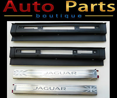 Jaguar F-Type OEM Genuine Union Flag Tread Plates Left and Right  T2R5985