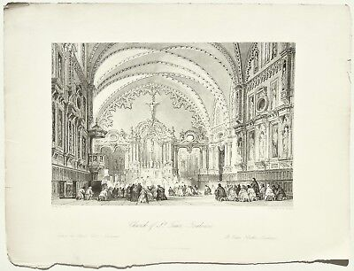 Church of St. Taur, - Toulouse., Allom, France Illustrated, Antique Print 1845