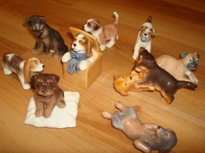 LOT of 9 Royal Copenhagen Mini Dog Collection - 9 Cuties!