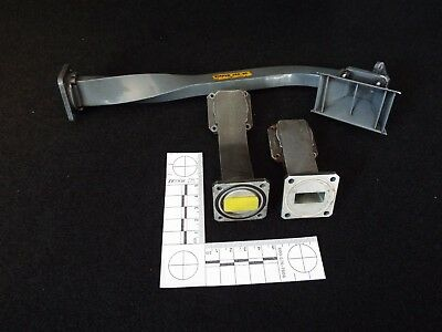 Job Lot 3 X Waveguides  2 X Small 1 X Long With Horn - Microwave Horn