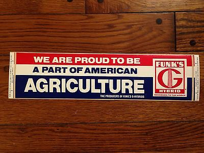 Vintage Funk's G Hybrid Bumper Sticker | Old stock! While supplies last! America
