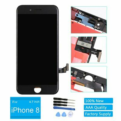 Black Display LCD Screen Touch Screen Digitizer Frame Replacement for Iphone 8