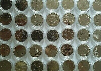 1992- 2020 Various Royal Mint fifty pence 50p coin Brilliant Uncirculated BU Unc