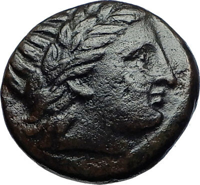 KASSANDER 305BC Macedonia Authentic Ancient Greek Coin APOLLO and TRIPOD i69820