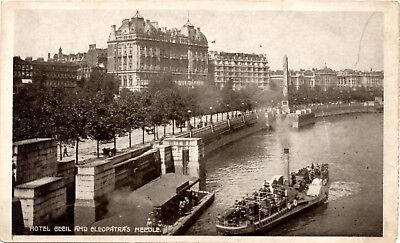 Hotel Cecil and Cleopatra's Needle - London - Postcard