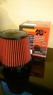 K&n performance induction kit red cone air filter new 73mm inlet universal