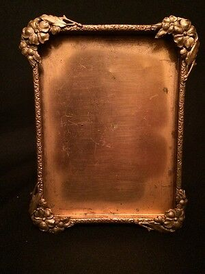 Very Nice Antique 19th c Victorian Ornate Detail Gold Metal Picture Frame