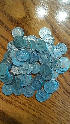 ***** Mixed lot of  Roosevelt  dimes and  Mercury  dimes ****""