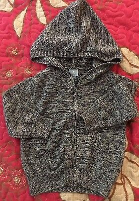 BabyGap~lightweight hooded sweater jacket~marled blue~ size 18-24m
