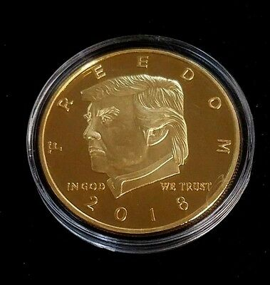 "Donald Trump 2nd Amendment Never Repealed 1.5"" GldPlt 2018 Coin Medal (Mnpl)"