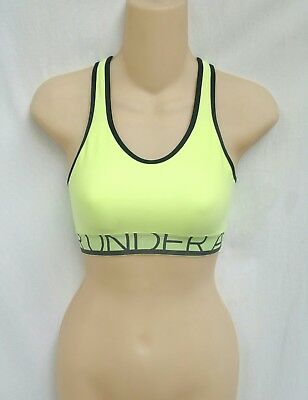 Under Armour Compression Sports Bra Neon Green/Black Womens Size XS NWT