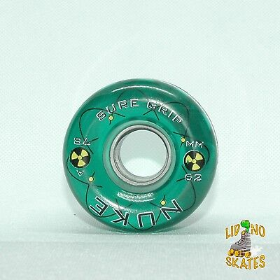 Original 1990's Sure-Grip Nuke 78A 62mm Quad Roller Skate Wheel