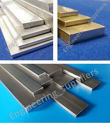 Metal Flat Bar Plate Aluminium, Brass & Mild Steel, various sizes, 100mm - 600mm