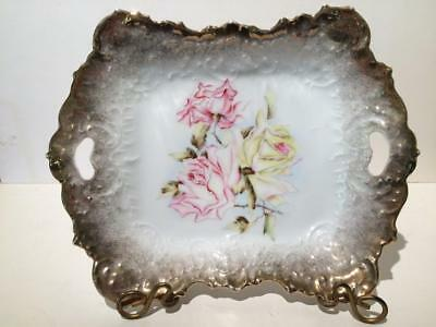 Antique Handpainted Serving Plate, Dresden Germany