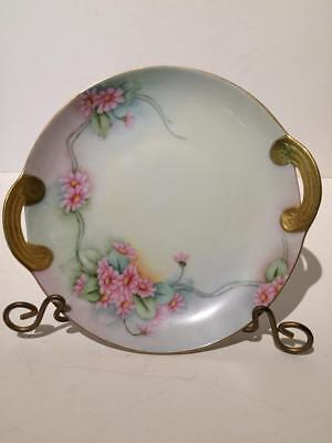 Antique Handpainted Serving Plate, Signed NF Jarvis