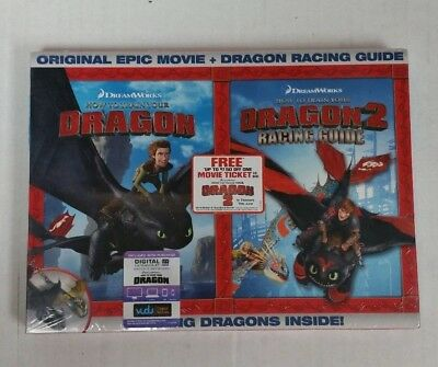How To Train Your Dragon DVD & How To Train Your Dragon 2 Racing Guide NEW