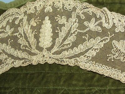 Antique Handmade Lace Collar or Trim? Bobbin Lace