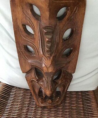 Filipino Igorot Wooden Tribal Mask Carved Teeth From The Philippines