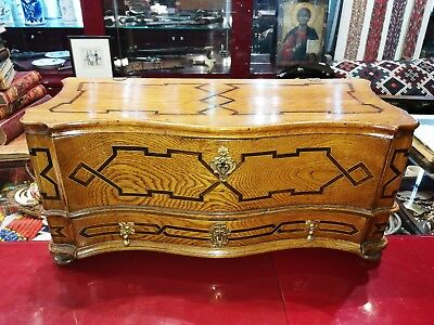 Terrific antique small Baroque sidebaord with one drawer