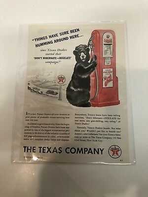 Vintage Texaco Ad The Texas Company Motor Oil Advertisement FREE SHIPPING IN USA