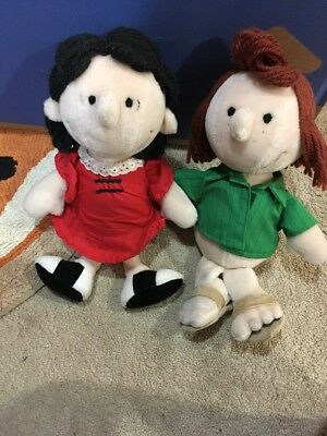 rare vintage peanuts characters peppermint patty lucy 13 plush