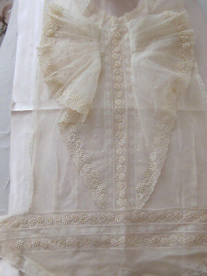 "Ladies Very Long Lace Piece From 1940's Unused 17"" L. By Up To 36"" W At Bottom"