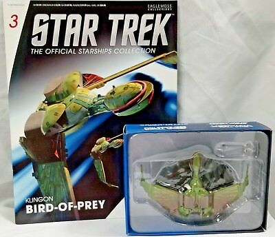 STAR TREK Official Starships Magazine #03 Klingon Bird-of-Prey Eaglemoss NIB