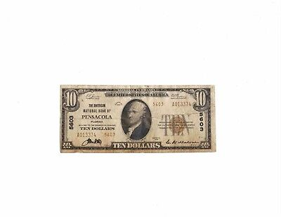 National Currency Series 1929 10 dollars American National Bank Pensacola
