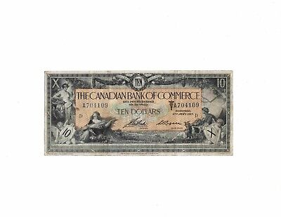 Canada 1917 Canadian Bank of Commerce 10 dollars large size