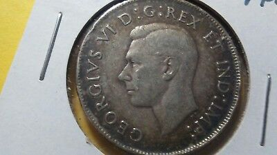 1944 Canadian 50 Cent Coin (80% SILVER) (Price Reduced)