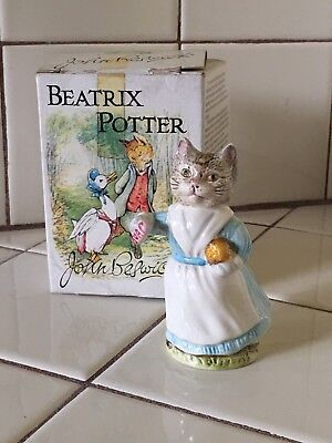 "Beatrix Potter ""Tabitha Twitchett"" Cat Figurine in Box Beswick England"