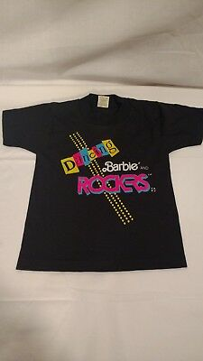 "Vintage ""Dancing Barbie & the Rockers"" T-Shirt, Child Sized 2-4, 1980's or '90's"