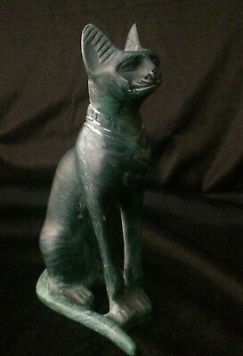Rare ANCIENT EGYPT BASTED Ubasti Goddess EGYPTIAN CAT Pharaoh STATUE STONE BC