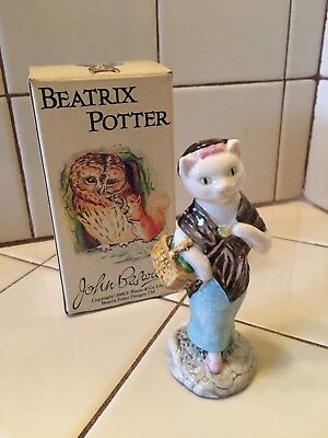 "Beatrix Potter ""Susan"" Cat Figurine in Box Beswick England"